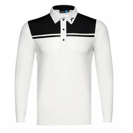 China New men Dust_Proof Golf Shirt Latest Spring summer JL Golf sports shirt Full Sleeves Anti-Pilling Short Golf T-Shirt Free shipping suppliers