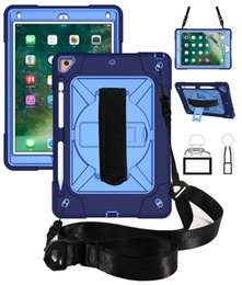 Fashion hand cases online shopping - Silicone Case with Shoulder and Hand Strap Pencil Holder for iPad Air New iPad Pro Tablet