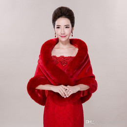 ToasT cloThes online shopping - New wedding red thick warmth autumn and winter hair shawl bride wedding toast clothing jacket cloak Drop Shipping