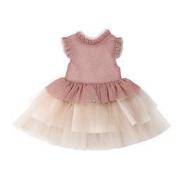 $enCountryForm.capitalKeyWord Australia - Flower Girls Dress Princess Kids Baby Party Princess Vestidos Gift Lace Ruffle Tutu Party Bridesmaid Dress