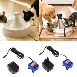 water fountains indoor plastic Australia - Silenced Fountain Pump Power Adapter Automatic Pet Cat Dog Water Drinking Fountain