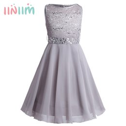 $enCountryForm.capitalKeyWord Australia - Iiniim Girls Sequined Floral Lace Chiffon Dress Princess Formal Brides Wedding Birthday Party Dress First Communion Tutu Dress MX190725