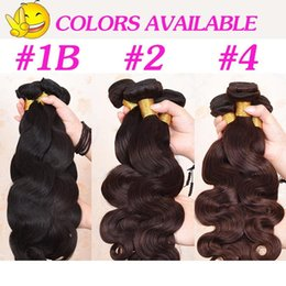 brazilian wavy hair 24 inches NZ - 8A Brazilian Virgin Human Body Designer Wave Hair Extensions 8-30 inch 100grams piece Body Wavy Hair Natural Black Brown H
