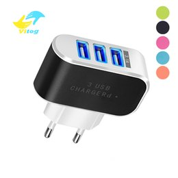 Chinese  3 Ports USB Charger 5V 2A USB Wall Power Adapter EU Charger Charging For iPhone Xiaomi Mi 9 Samsung Huawei Phone Charger manufacturers