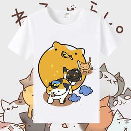 $enCountryForm.capitalKeyWord Australia - Cat Backyard Short Sleeve Courtyard Animation Cat Lovely Japanese Printed T-shirt for boys and girls