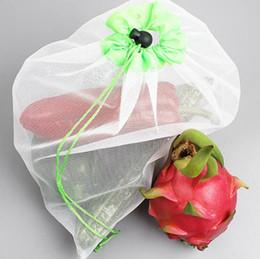 Eco Friendly Toys Australia - Bags Black Rope Mesh Bags Reusable Fruit Vegetable Toys Mesh Storage Bags Washable Eco Friendly Pouch