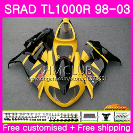 srad fairing yellow NZ - Injection For SUZUKI SRAD TL 1000 R TL1000R 98 99 00 01 02 03 Yellow black 16HM.4 TL1000 R TL 1000R 1998 1999 2000 2001 2002 2003 Fairing