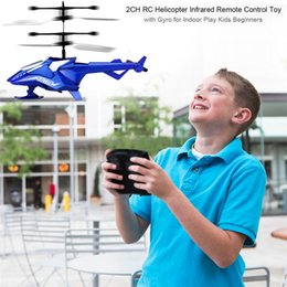 Radio Helicopter Toy Australia - wholesale RC Helicopter Electric Flying Toys 2CH 2 Channel RC Helicopter Remote Control Drone Radio Gyro Aircraft Plane Kids Toys 20