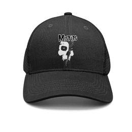 $enCountryForm.capitalKeyWord Australia - Men Women's Skull Ghost Misfits Punk Gothic Snapback Flat Cap Plain All Cotton Mesh Caps Fit Dad Hats