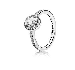 925 china cz white gold UK - Real 925 Sterling Silver CZ Diamond RING with LOGO and Original box Fit Pandora style Wedding Ring Engagement Jewelry for Women