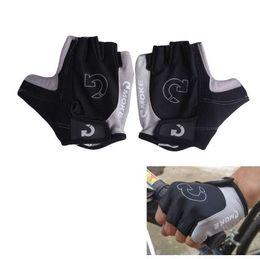 Super Racing Bike UK - Half Finger Bike Sports Gloves Super Abrasion Palm Cycling Breathable Racing Men Women Breathable Sports Gloves Size S-XL