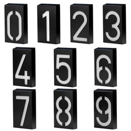 house numbers led lights Australia - House Number Solar Digital Wall Light Doorplate Lighting Control Solar LED House Number Villa Garden Backlit Light