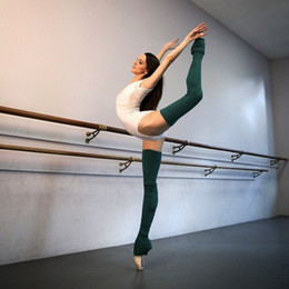 green white thigh high socks Australia - Winter Yoga Socks Extra Long Boot Over The Knee Knit Dance Adult Leisure Long Tights Thigh High Leg Warmer for Women