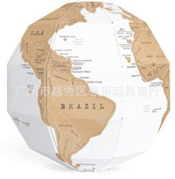 $enCountryForm.capitalKeyWord Australia - DIY Scratch Globe 3D Stereo Assembly Globe World Map Travel Kid Child Toy Gift