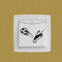 $enCountryForm.capitalKeyWord NZ - Ball Kick Shoe Soccer Sports Bedroom Switch Decal Decor Wall Sticker