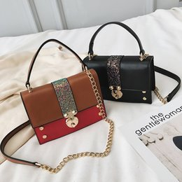 $enCountryForm.capitalKeyWord Australia - Casual Small Bag for Women Glitter Sequins Crossbody Shoulder Bag Hit color Messenger Bag 2019 Simple Chain Square Handbag