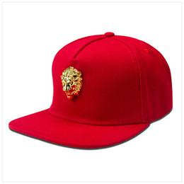 Venta caliente original de 2019 cabeza de león americana cabeza de hierro  marca de marea hip hop gorra plana gorra de béisbol de5777ab9fd