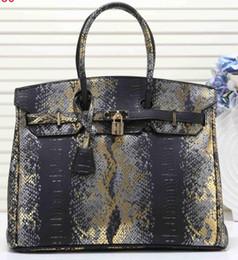 $enCountryForm.capitalKeyWord Australia - New product sell Fashion Classic Top brand designer Snake pattern Famous Brand H BK Totes bags women Bags B K H Handbags 35CM 8805-6#