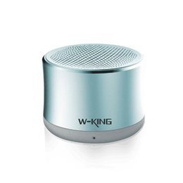 Chinese  W-king Portable Bluetooth Speaker Active Column Support TF AUX Wireless Metal Speaker Smart Speaker MP3 Column Computer Boxes manufacturers