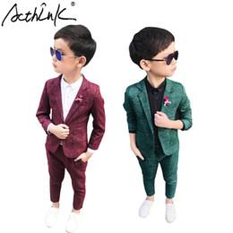 $enCountryForm.capitalKeyWord Australia - Acthink Autumn winter Korean Style Young Boys Formal Suits England-style Flower Boys Turn Down Collar Suits For Wedding,tc111 J190715