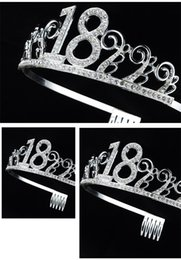 Cake Crowns online shopping - Cake Crowns Hair Buckle Metal Color Princess Headband Girls Women Hair Accessories For Birthday Party Decorations Years mr E1