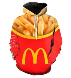 New Fashion Hip Hop Sweatshirt Men Women 3d Casual Hoodies Burger Fries  Fast Food Unisex Harajuku Style Loose Pullover Hoodies 3e3e785a46b7