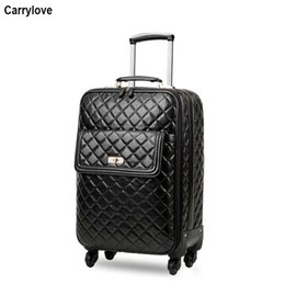 "$enCountryForm.capitalKeyWord Australia - CARRYLOVE 16"" inch women carry on luggage 20"" 24"" spinner leather trolley suitcase on wheel"