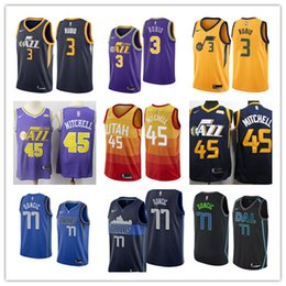 2019 Utah Donovan Mitchell Ricky Rubio Luka Doncic Dirk Nowitzki Dennis  Smith JR. basketball jerseys ce8926e0d