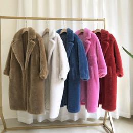 Wholesale white wool coat fur resale online - Luxury Real Fur Jackets Women Sheep Fur Coat Loose Fashion Luxury Warm Thick Winter Outerwear Parkas Lapel Female Overcoats