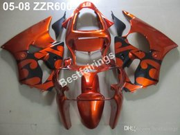 Injection Zzr Australia - High quality plastic fairing kit for Kawasaki ZZR600 05 06 07 08 wine red black injection molding fairings set ZZR 600 2005-2008 ZV22