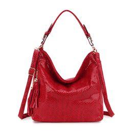 Compartment Tote Bags Australia - Fashion Leather Women Handbags Tassel Hobo Women Shoulder Bags Female Crossbody Bags for Women 2018 Tote Ladies Hand Bags Bolsa