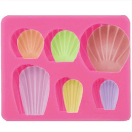 silicone molds for cakes Australia - Seashell Silicone Molds Cake Decorating Tools 3D Fondant Soap Mold for Caking Decoration Chocolate Candy Mold Baking Tool
