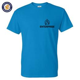 $enCountryForm.capitalKeyWord Australia - Star Trek Enterprise Men T shirts Short Sleeve O-neck Cotton Tops Tees Swag Funny 2016 autumn Fashion T