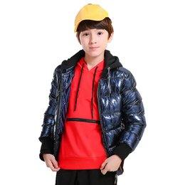 big teenager clothes UK - Children Winter Jackets for Boys Casual Teenagers Boys Parkas Hooded Warm Big Boys Clothes Kids Outerwear Coat RT206