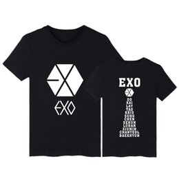 Exo Black Shirt Australia - Top Quality Cotton Fashion Exo Print Loose Women Tshirt Cool Funny Women's Tee Shirts Summer Top Oneck Short Sleeves Tees Female
