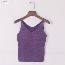 Back slimming vest online shopping - Women Bright Silk Knitted Vest Suspenders Slim Backing Provided Tight Elastic Solid Free Chest Ladies Sling Sexy D1