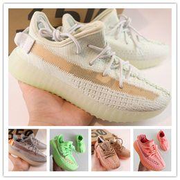 $enCountryForm.capitalKeyWord Australia - 2019 West 350 Running Shoes Baby Kids Run Shoes Kanye V2 Children Athletic Shoes Boys Girls Sneakers Black Red Cream White Zebra