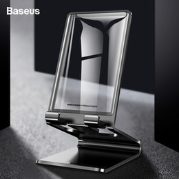 Stand Holder Support For Tablets NZ - Baseus Universal Metal Desk Support Stand For Iphone Xs Max Ipad Samsung Xiaomi Tablet Mobile Phone Holder J190507