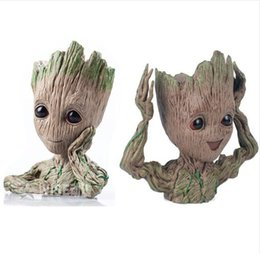 $enCountryForm.capitalKeyWord UK - 14CM baby grootted Guardians Of The Galaxy Flowerpot Action Figures Cute Model Toy Pen Pot Best Christmas Gifts Kids Hobbies