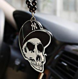 $enCountryForm.capitalKeyWord Australia - Skeleton Head Car Pendant Emblem Car Style Suspension Auto Mirror Decor Ornaments Hanging Suspension Christmas Gift EEA260