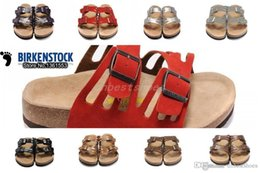 733465c9187 New Birkenstock Women s Flat Genuine Leather Sandal Casual Slippers  Platforms Cheap Sale 100% High Quality Free Shipping