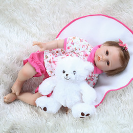real hair doll NZ - New 50CM reborn doll newborn cuddly baby doll baby realistic silicone real soft touch hand rooted hair adorable real weighted doll
