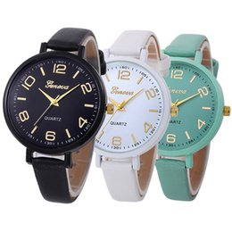 Leather wrist bands for women online shopping - Fashion women ladies simple thin leather band geneva watch new lady casual leisure dress quartz wrist watch for women