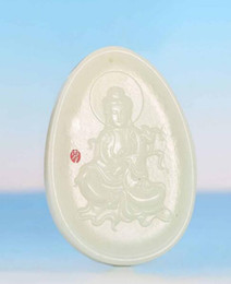 $enCountryForm.capitalKeyWord Australia - Exquisite Chinese Natural Hand Carving GuanYin Old HeTian Jade Pendant