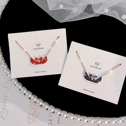b2b28cf63cf6 18K con incrustaciones de oro Swarovski cristal doble cisne collar colgante  joyería de moda de las mujeres El mejor regalo del día de San Valentín