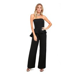 $enCountryForm.capitalKeyWord UK - Vogue Women&s Sexy Jumpsuit Strapless Leakage Shoulder Falbala Conjoined With Height Of Pants