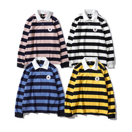 $enCountryForm.capitalKeyWord UK - 19SS NEW retro trend classic sweater cons iconic logo applique embroidered polo collar long sleeve striped shirt Novelty Top quality Sweater