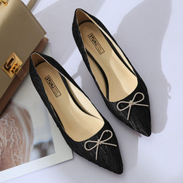 $enCountryForm.capitalKeyWord Australia - Shoes Fashion Dress Pointed Toe Bow Knot Woman Thin Heeled Pumps Sweet Office Lady zapatos mujer ladies 6950