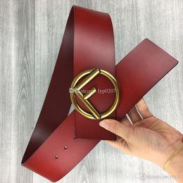 Genuine Leather Waist Strap Belts NZ - width 7.0 cm 2017 Luxury buckle Designer red belts men's Waistband man genuine leather Casual hombre Waist Strap fashion Cowskin 105-12