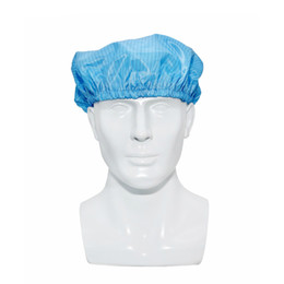 $enCountryForm.capitalKeyWord UK - High Quality Polyester Material Esd Cleanroom Bouffant Hat Antistatic Cap Lab Working Tool for Women Men